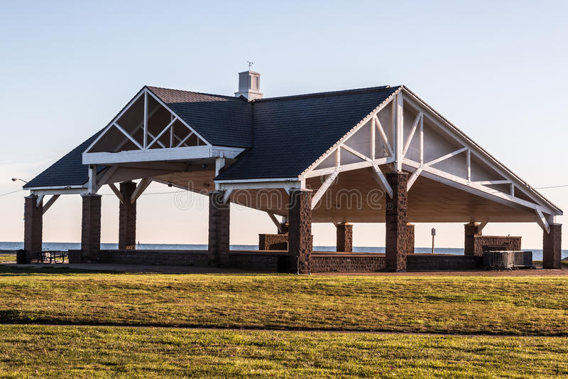 Pavillon de plage de Buckroe photos stock