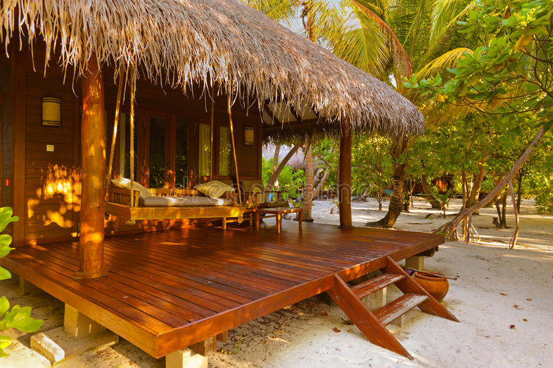 Pavillon de plage - Maldives photos libres de droits