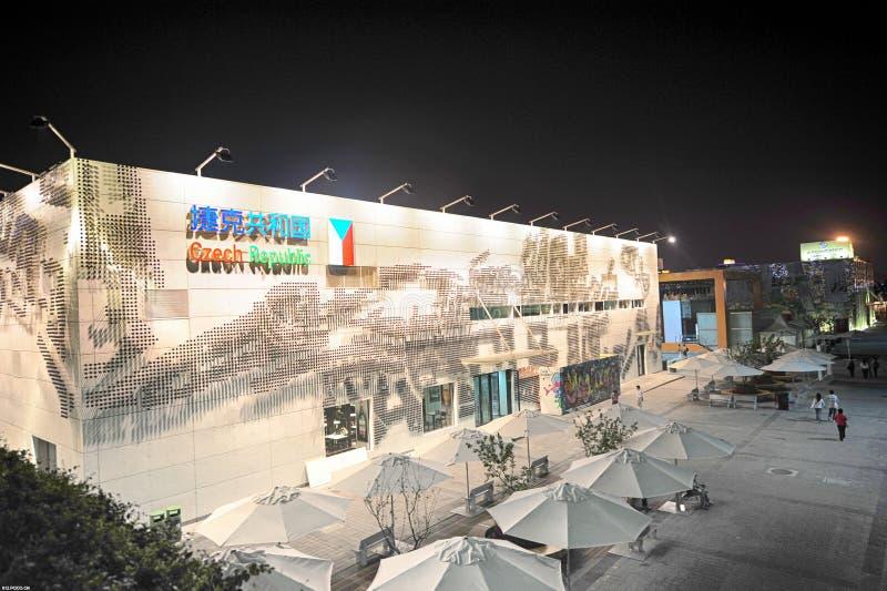 Pavillon 2010 de Tchèque d'expo du monde de Changhaï de Chinois photo stock