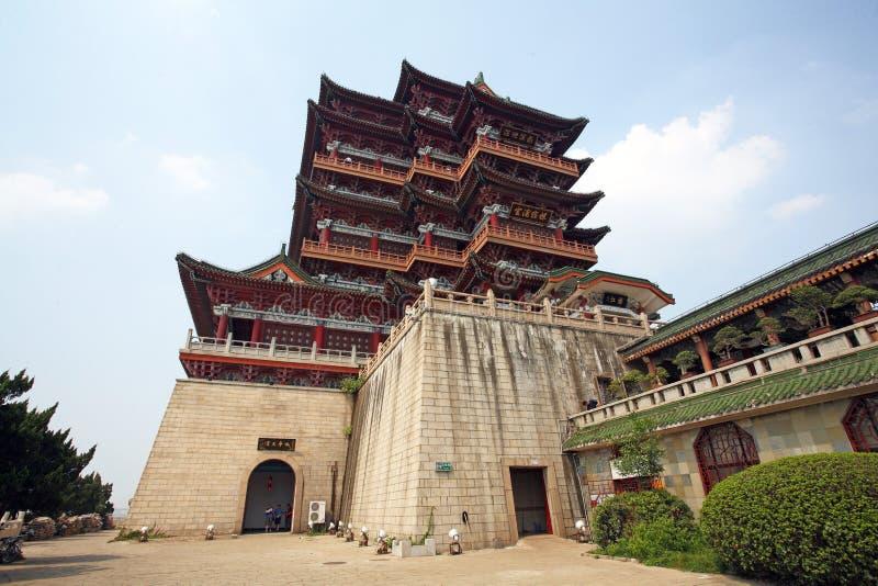Pavillon de Tengwang, porcelaine photo stock