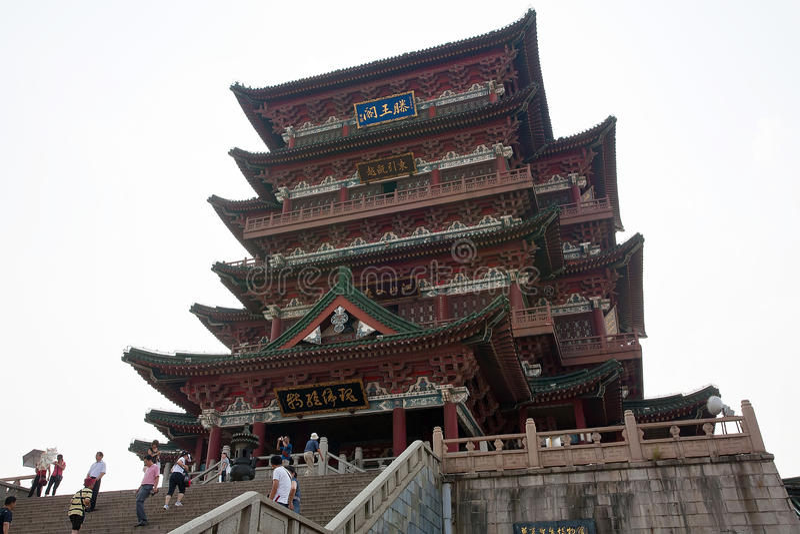 Pavillon de Tengwang, porcelaine photos stock