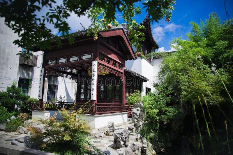 Pavillon de ville de Suzhou de Jiangsu de la Chine photo libre de droits