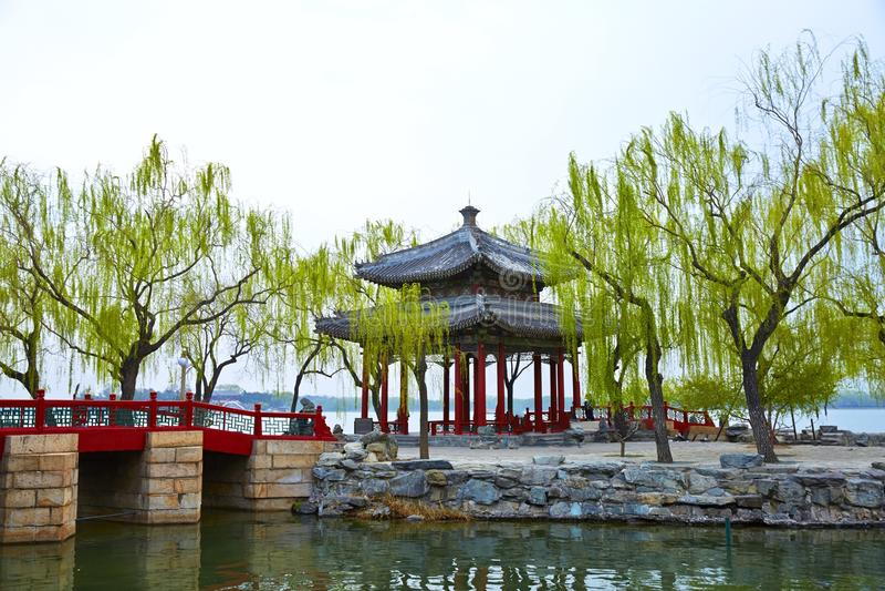Pavillon de Zhichun au printemps photographie stock libre de droits