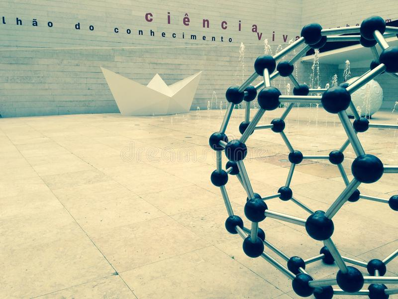 PAVILLON des VIVATS de la CONNAISSANCE CIÊNCIA, Lisbonne, Portugal image stock