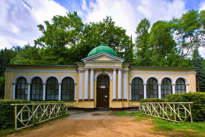 Pavillon des Waldfrühlinges - Marianske Lazne Marienbad - Tschechische Republik stockfotos