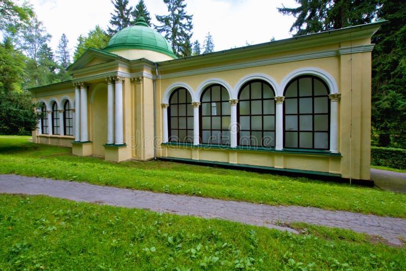 Pavillon des Waldfrühlinges - Marianske Lazne Marienbad - Tschechische Republik stockbild