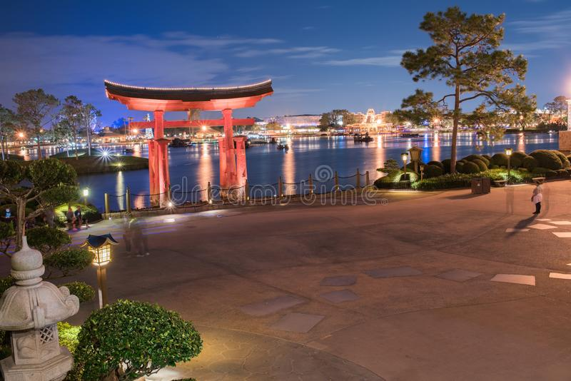 Pavillon du Japon chez Epcot images libres de droits