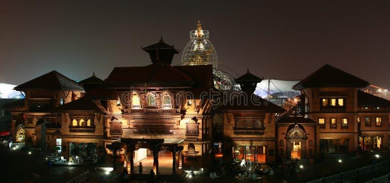 Pavillon du Népal dans l'expo du monde de Changhaï images libres de droits