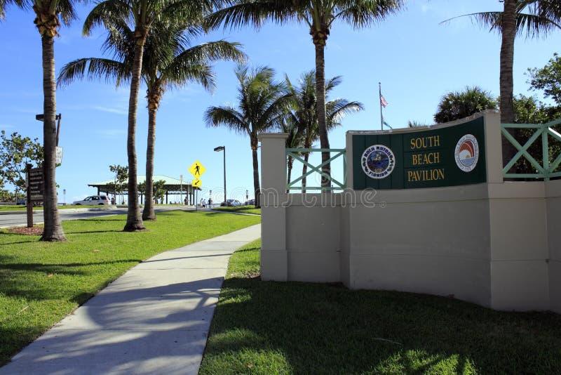 Pavillon du sud de plage images libres de droits
