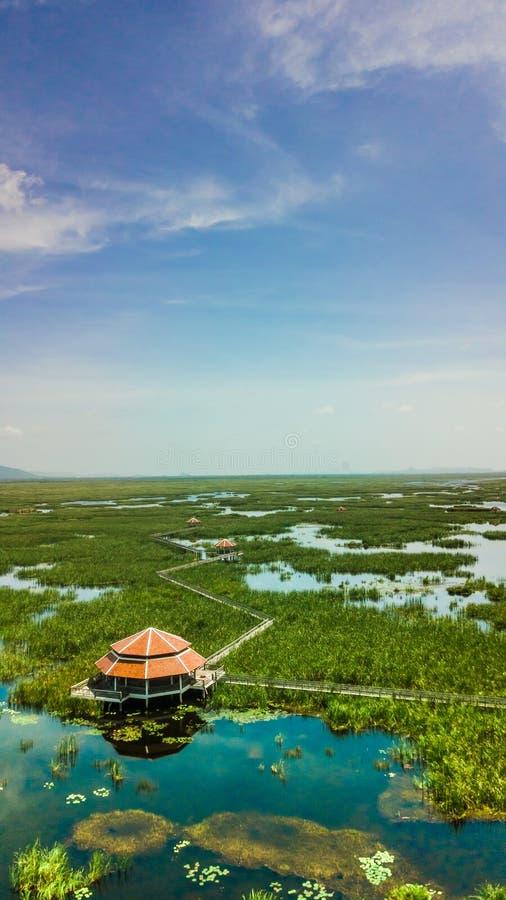 Pavillon en Sam Roi Yot, Thaïlande photographie stock libre de droits