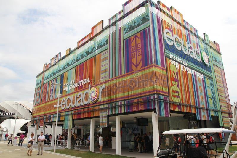 Pavillon Equateur photo libre de droits