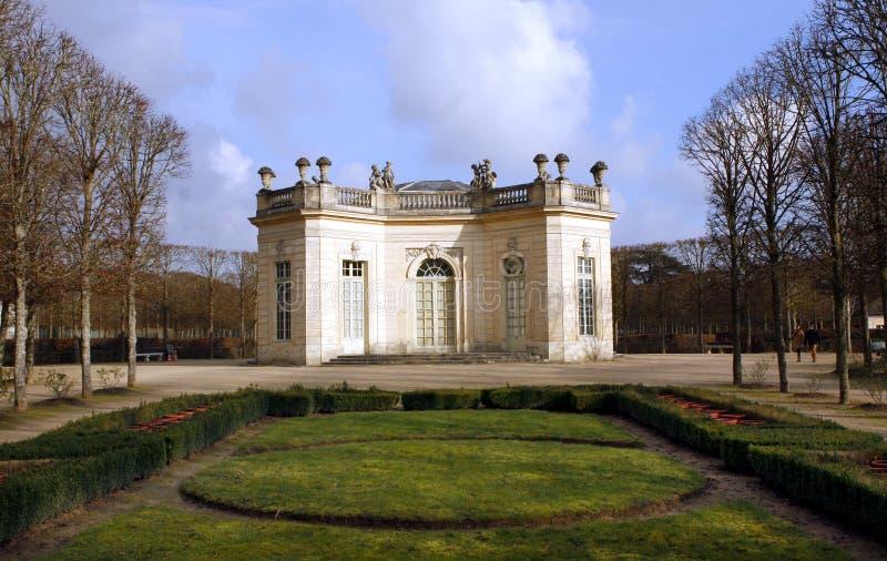 The Pavillon Français - Versailles. The Pavillon français is a cause garden built for Louis XV and Madame de Pompadour by Ange-Jacques Gabriel in the heart stock photos