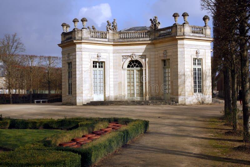 The Pavillon Français - Versailles. The Pavillon français is a cause garden built for Louis XV and Madame de Pompadour by Ange-Jacques Gabriel in the heart royalty free stock photos