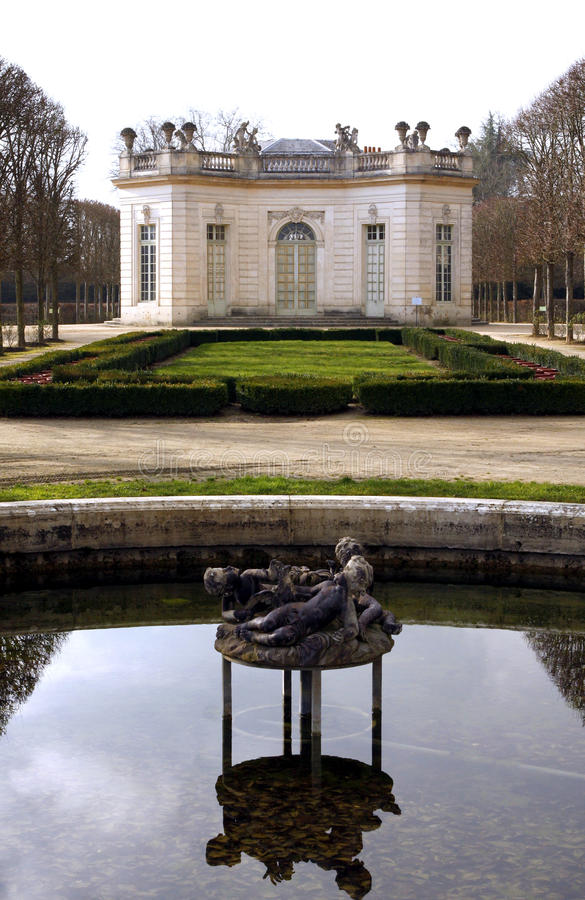 The Pavillon Francais - Versailles stock photo