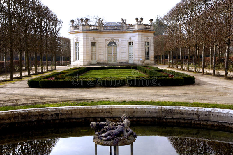 The Pavillon Francais - Versailles stock image