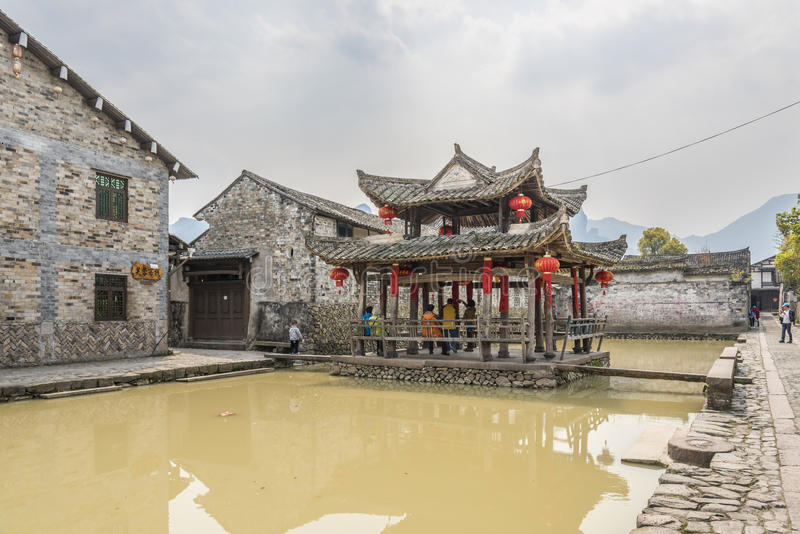 Pavillon Furong (Hibiscus) stockfoto