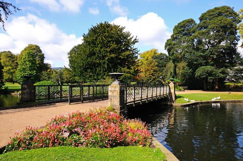 Pavillon-Gärten, Buxton stockfotos