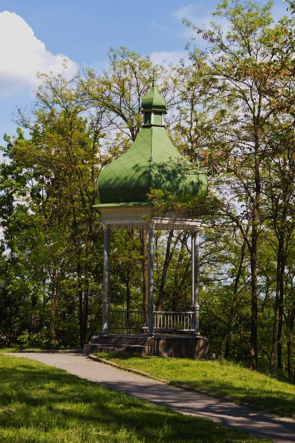 Pavillon im Stadtpark lizenzfreies stockbild