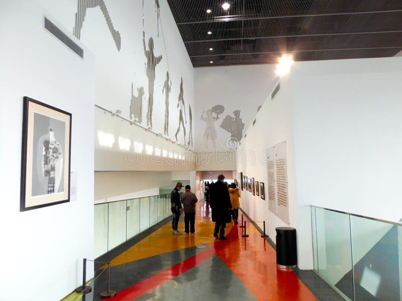 Pavillon intérieur de la Chine d'expo du monde de Changhaï images libres de droits