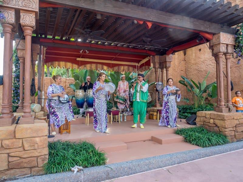 Pavillon marocain, étalage du monde, Epcot photos stock