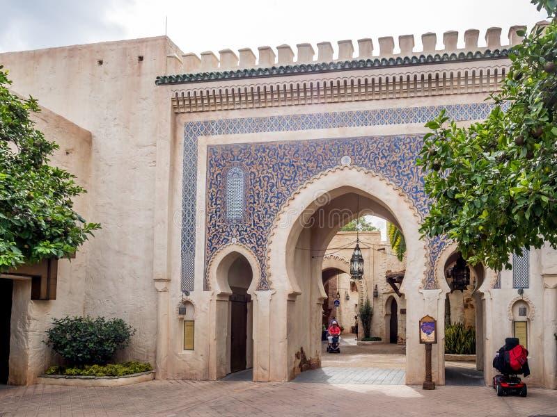 Pavillon marocain, étalage du monde, Epcot photos libres de droits