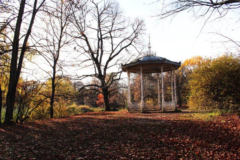 Pavillon nel Palmgarten in Lipsia fotografia stock libera da diritti