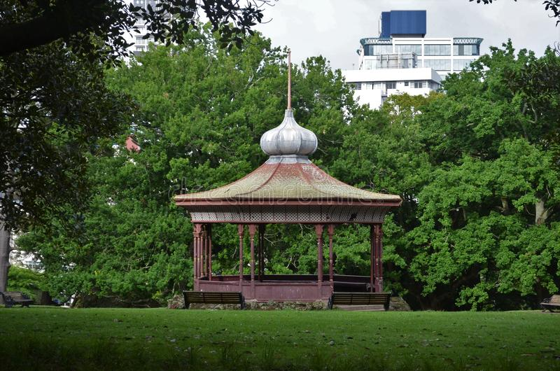 Pavillon in the park. Pavillon in Auckland Albert Park royalty free stock photography