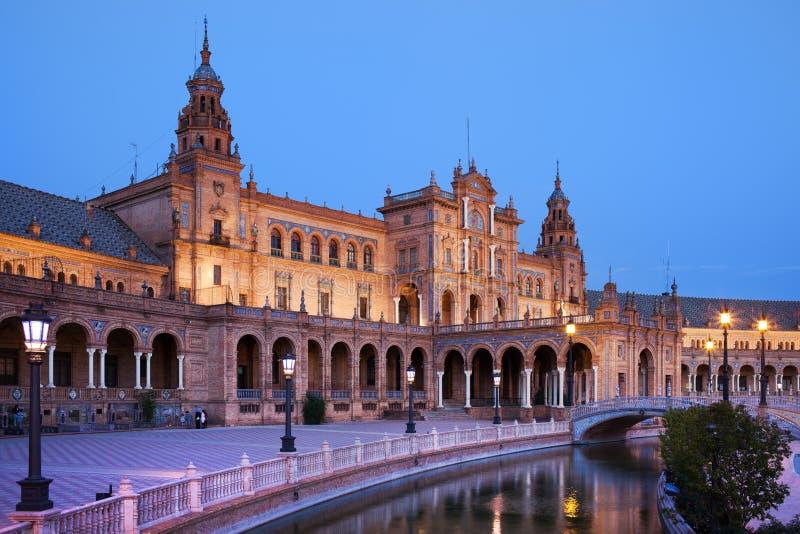 Plaza de Espana Pavilion in Sevilla lizenzfreie stockfotos