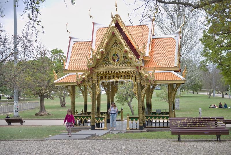 Pavillon thaïlandais à Lisbonne image stock