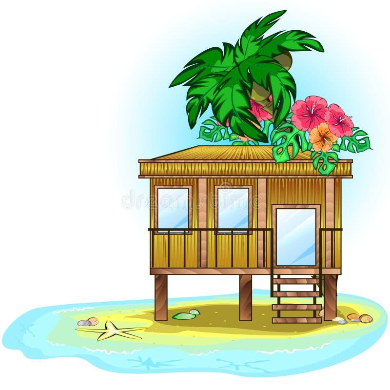 Pavillon tropical illustration stock