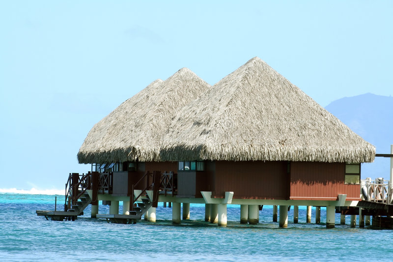Pavillons d'Overwater photo stock