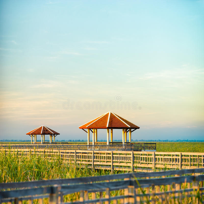 Pavillons de parc de Sam Roi Yod National image libre de droits
