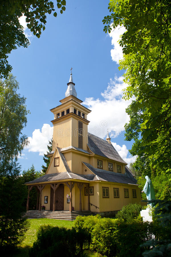 Pavilnys kyrka i Vilnius, Litauen arkivbilder