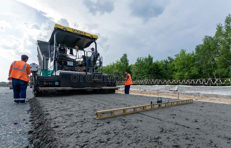 Pavimentación del asfalto imagen de archivo libre de regalías