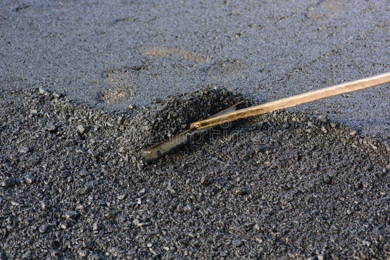 Pavimentación del asfalto imágenes de archivo libres de regalías