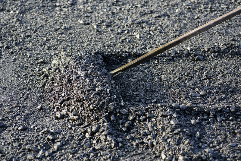 Pavimentación del asfalto fotografía de archivo