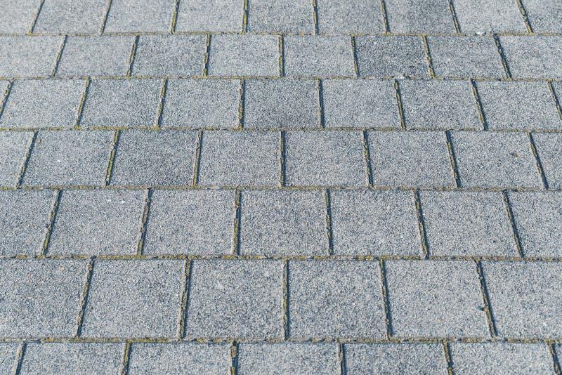 Pavimentato con il pavimento del granito fotografia stock libera da diritti