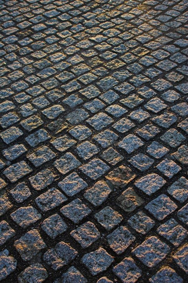 Pavimentazione del ciottolo immagini stock libere da diritti