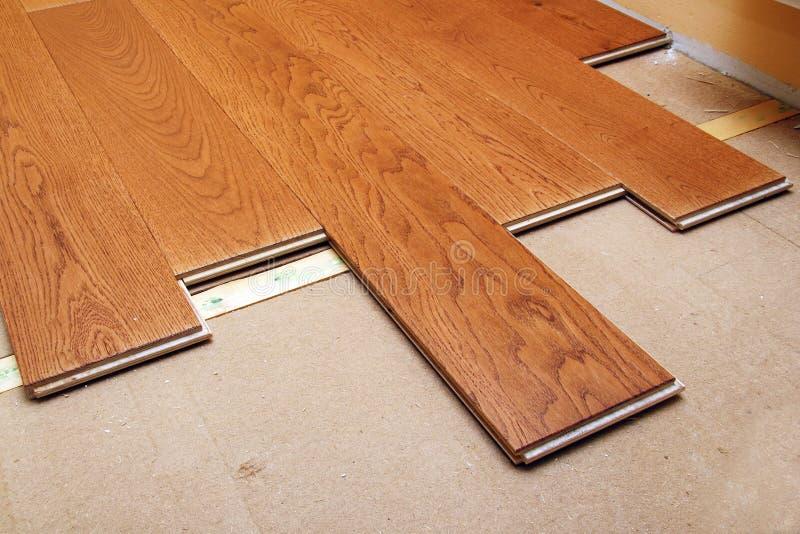 Pavimentazione del legno duro immagini stock