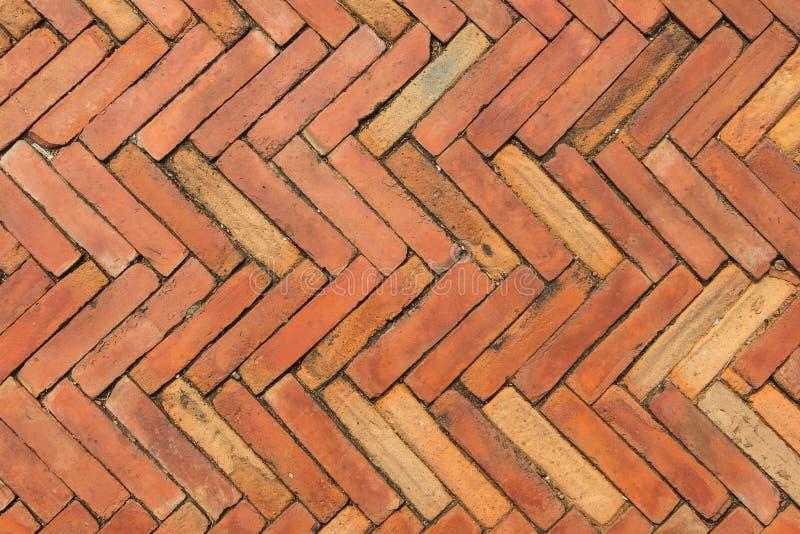 Pavimentazione del mattone rosso fotografie stock libere da diritti
