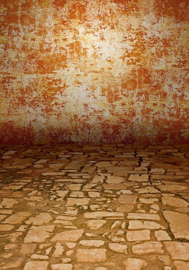 Pavimentazione di pietra antica fotografia stock libera da diritti