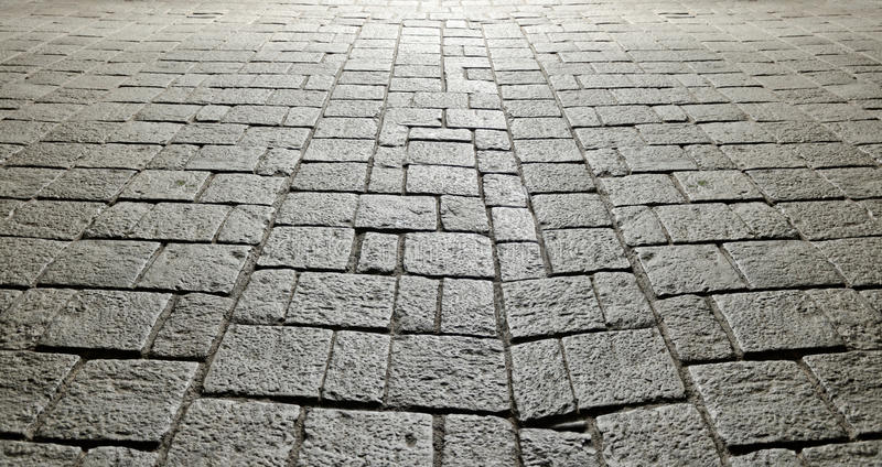 Pavimentazione di pietra antica fotografia stock