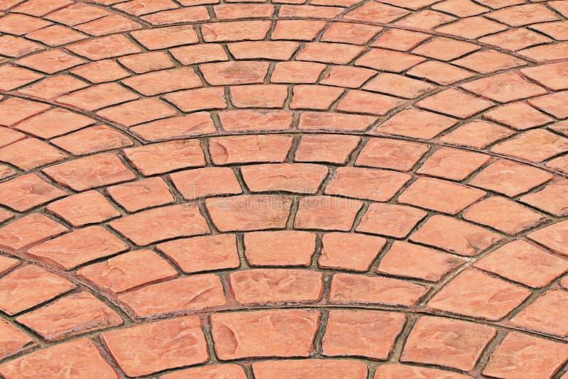 Pavimentazione in piastrelle arancio fotografia stock