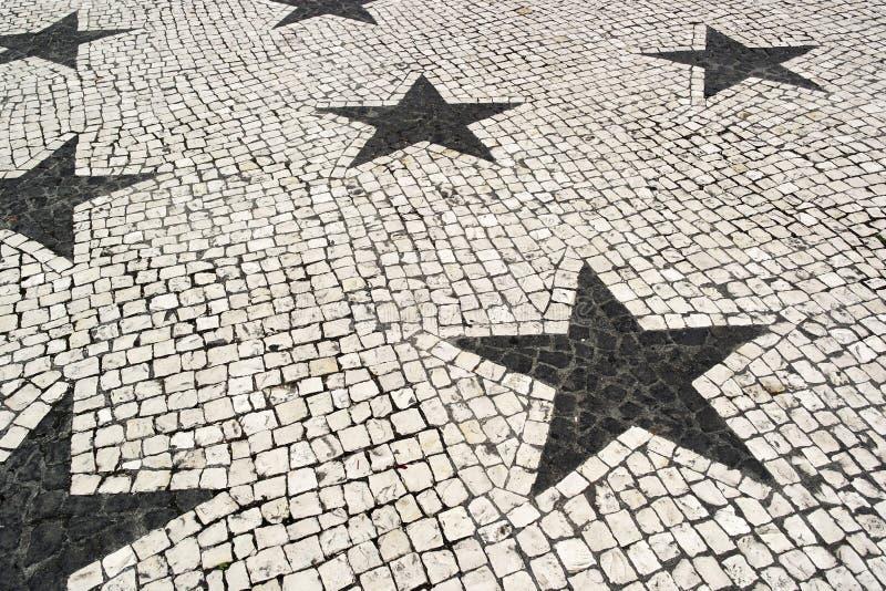 Pavimentazione portoghese, Lisbona, Portogallo fotografia stock libera da diritti