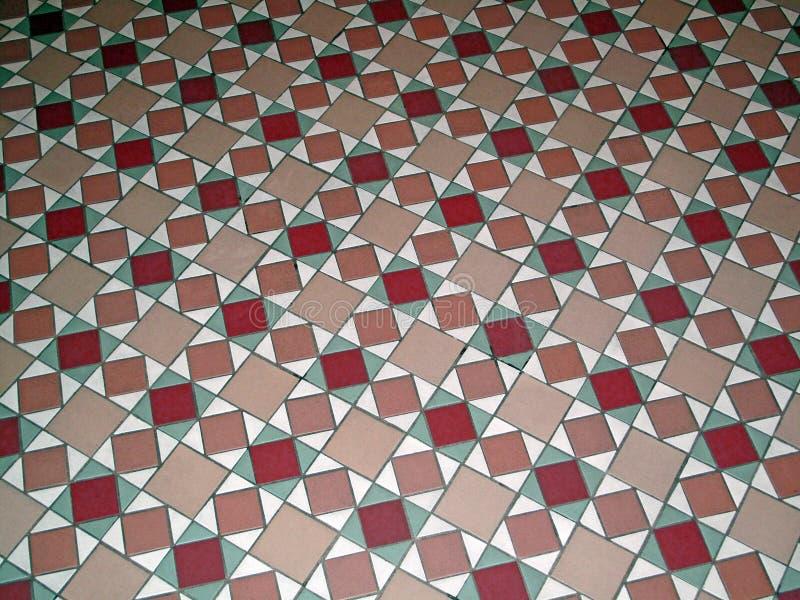 Pavimento antico del modello della piastrella di ceramica immagine stock