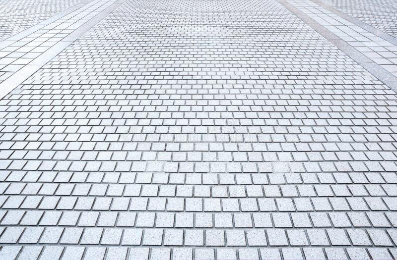 Pavimento concreto do tijolo fotos de stock royalty free