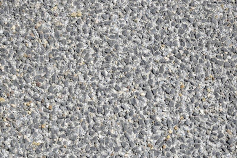 Pavimento concreto Seixos pequenos fotografia de stock