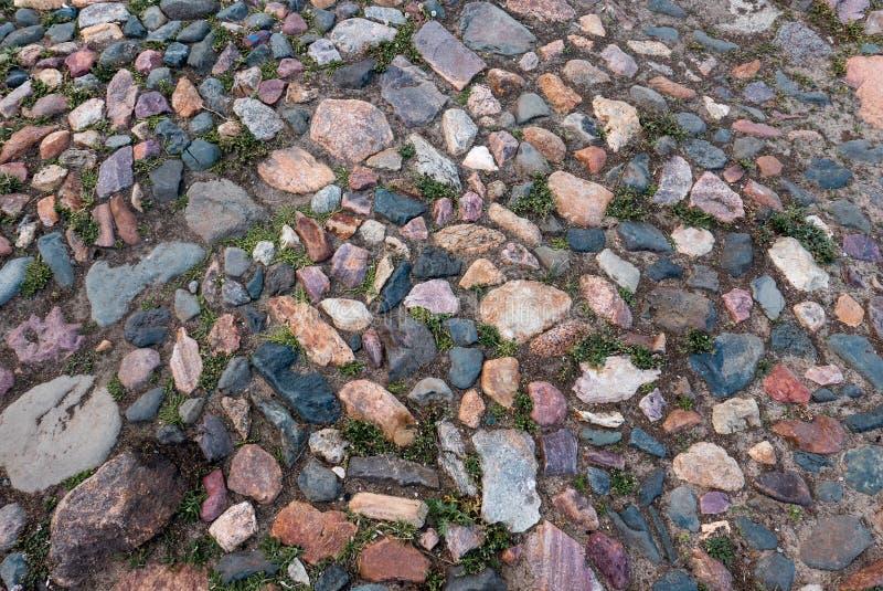 Pavimento de pedra colorido velho imagens de stock royalty free