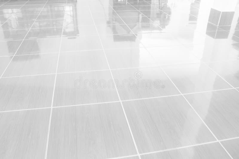 Pavimento del marmo di Gray Tiles per il fondo degli interni delle costruzioni fotografia stock libera da diritti