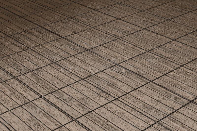 Pavimento di Brown nelle liste di legno illustrazione vettoriale
